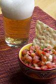 Bier und salsa