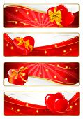 Set of Valentine's Banners. Vector.
