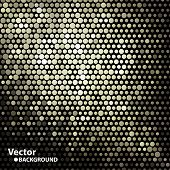 golden shiny dots, vector background