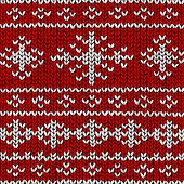Christmas vector background, jumper with snowflakes
