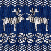 jumper pattern with reindeers, vector illustration