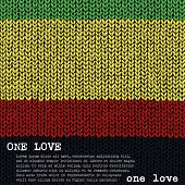 stock photo of rasta  - ONE LOVE vector jumper - JPG