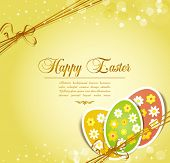 picture of happy easter  - vector background with holiday Easter eggs - JPG