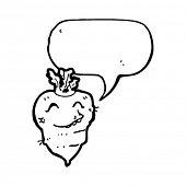 happy turnip with speech bubble