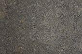 Black Gray Asphalt Closeup. Rough Surface Texture poster