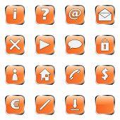 Coleção de ícone Web laranja