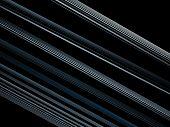 Optical Art Blue Black Light Lines Fractal poster