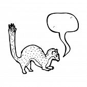 stoat with speech bubble illustration
