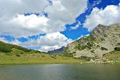 Prevalski Lake Landscape In National Park Pirin