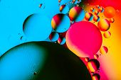 Abstract Molecule Structure. Water Bubbles. Macro Shot Of Air Or Molecule. Abstract Background With  poster