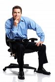 pic of male face  - Smiling business man - JPG