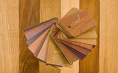real and laminated wood samples