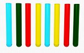 colorful test tubes 3d