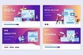 Modern Flat Set Of Effective Website Designs. Template Of Web Page Design For Website Illustration.  poster