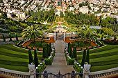 die Bahai-Schrein, der Terrassengärten