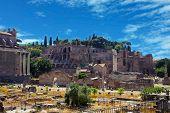 Rome, Italy.   The Roman Forum (latin: Forum Romanum)