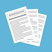 Contract Creation, Document Formation, Obligation Concept. Registration Document Isolated. Contract  poster