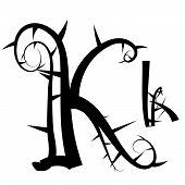 Gotisches Alphabet Buchstaben