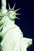 detail of Statue of Liberty National Monument, New York, USA