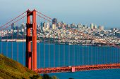 pic of gate  - Golden Gate Bridge and downtown San Francisco - JPG