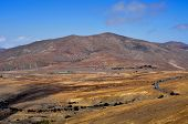 view of a landscape of Fuerteventura, Canary Islands, Spain, from Lookout Morro de Velosa