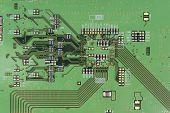 Modern Printed-circuit Board Macro Background
