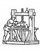 Renaissance Printer - Retro Clipart Illustration