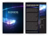 3D Optical Fibers Business Brochure Template | Editable Vector Layout