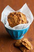 Pumpkin Oatmeal Spice Cookies