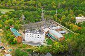 Sokolniki transforming power substation, view from above