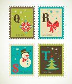 Weihnachten Alphabet mit niedlichen Xmas-Ikonen