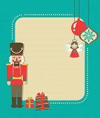 Weihnachten Grußkarte mit Nussknacker und Geschenk-Boxen