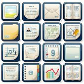 Icons with Paper Documents. Vector Business Design