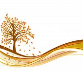 stock photo of fall trees  - Tree autumn background art illustration element for design - JPG