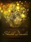 pic of deepavali  - Fire crackers background for Diwali festival celebration in India - JPG