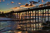 Oceanside Pier at Sunset - Oceanside, California, USA