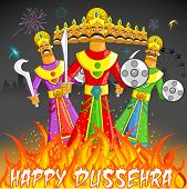 picture of ravan  - illustration of Raavan Dahan for Dusshera celebration - JPG