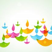 beautiful colorful stylish vector diwali background