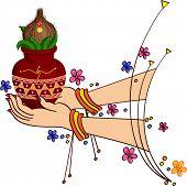 picture of kalash  - Women Holding Divine Kalesh - JPG