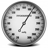 illustration of a sphygmomanometer for measuring blood pressure