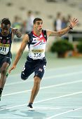 BARCELONA - JULY, 11: Adam Gemili of Great Britain during 100 meters event of the 20th World Junior