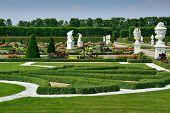 Garden With Sculptures In Herrenhausen Gardens, Hanover, Germany
