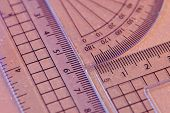 Set Square,protractor And Ruler