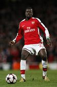 LONDON, ENGLAND. 31/03/2010. Arsenal player Emmanuel Ebou in action during the  UEFA Champions Leagu