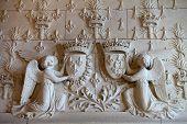 Heraldic motifs in the castle Amboise