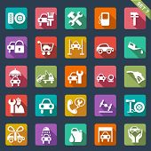 picture of spare  - Auto service icon set - JPG