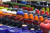 Colorful Ceramic Pots In Market