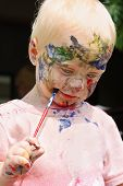 Baby Painting His Face
