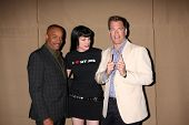 LOS ANGELES - 29 de JUL: Rocky Carroll, Pauley Perrette, Michael Weatherly chega em 2013 CBS TFA