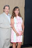 LOS ANGELES - JUL 29:  Beau Bridges, Wendy Bridges arrives at the 2013 CBS TCA Summer Party at the p